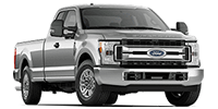 silver ford f350 super duty truck
