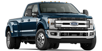 blue ford 450 dually super duty truck