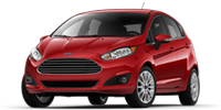 red ford fiesta sedan