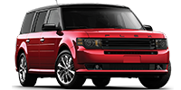 red ford flex suv