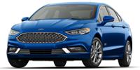 blue ford fusion energi sedan