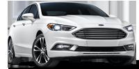 white ford fusion sedan