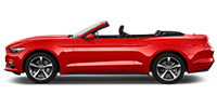 red ford mustang convertable