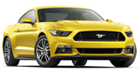 yellow ford mustang v6 coupe