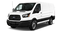 white ford transit 150 van