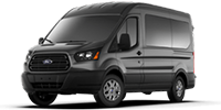 black ford transit 150 wagon van