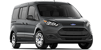 black ford transit connecdt wagon van