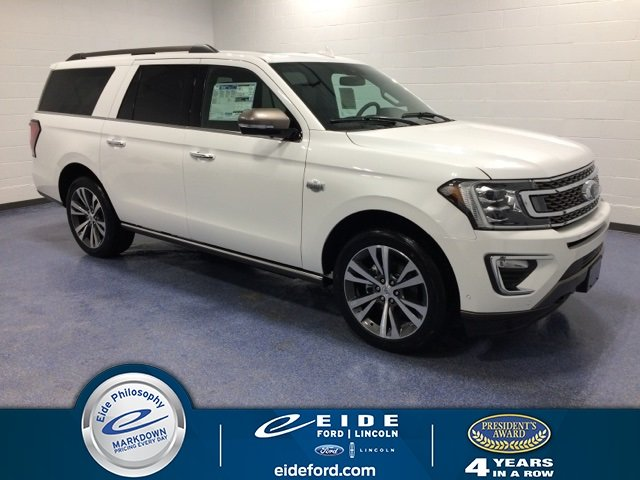 Lease this 2020, White, Ford, Expedition Max, King Ranch