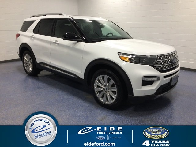 Lease this 2020, White, Ford, Explorer, Limited
