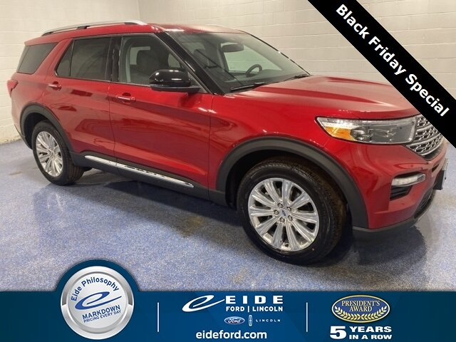 Lease this 2020, Red, Ford, Explorer, Limited