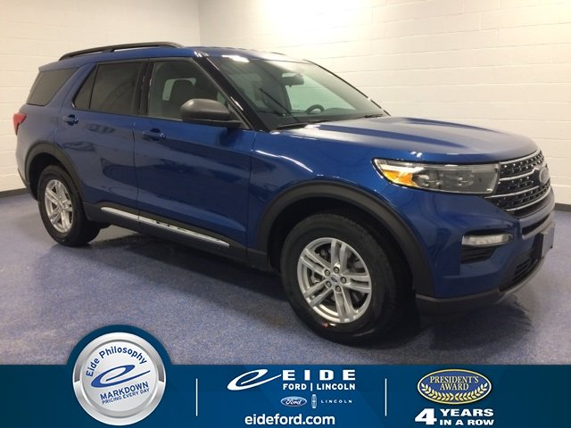 Lease this 2020, Blue, Ford, Explorer, XLT