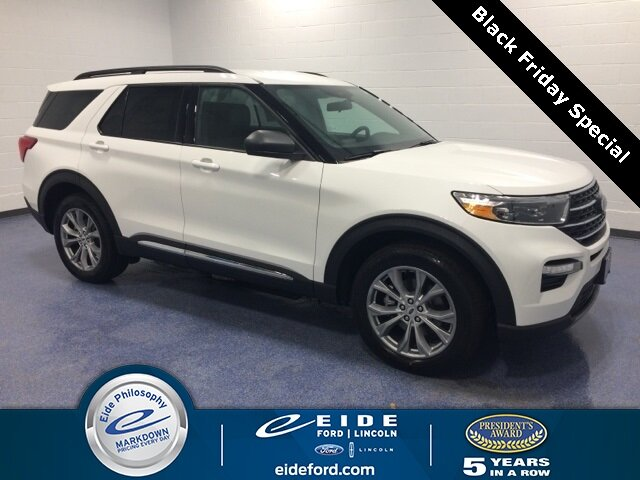Lease this 2020, White, Ford, Explorer, XLT