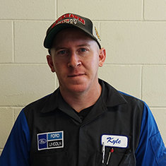 TECHNICIAN Kyle Hardy in Service at Eide Ford Lincoln