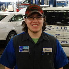 Technician Josh King in Service at Eide Ford Lincoln