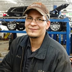 Lube Rack Technician Dan Balch in Service at Eide Ford Lincoln