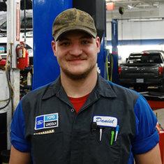 Lube Rack Technician Daniel Herdebu in Service at Eide Ford Lincoln