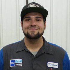 Technician Kendrick Schafer in Fleet and Diesel Service at Eide Ford Lincoln