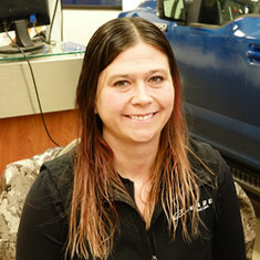 Service Advisor Brandy Fredrickson in Service at Eide Ford Lincoln
