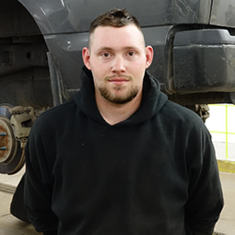 TECHNICIAN Jordan Halzak in Service at Eide Ford Lincoln