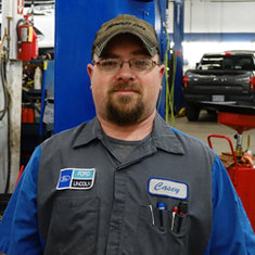 Technician Casey Schon in Service at Eide Ford Lincoln