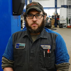 Senior Master Technician Eric Hoffman in Service at Eide Ford Lincoln