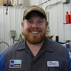 SENIOR MASTER TECHNICIAN Dan Gabel in Fleet and Diesel Service at Eide Ford Lincoln
