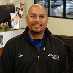 Service Advisor Lito Pajimula in Service at Eide Ford Lincoln