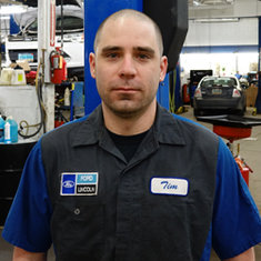 Master Technician Tim Romo in Service at Eide Ford Lincoln