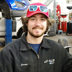 Technician Jeremy Ness in Service at Eide Ford Lincoln