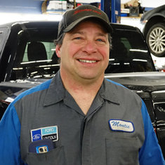 Senior Master Technician Montie Barth in Service at Eide Ford Lincoln