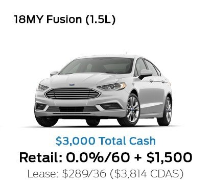 2018 Ford Fusion 1.5L Special Offer
