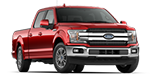 new red 4 door ford f150 pickup truck