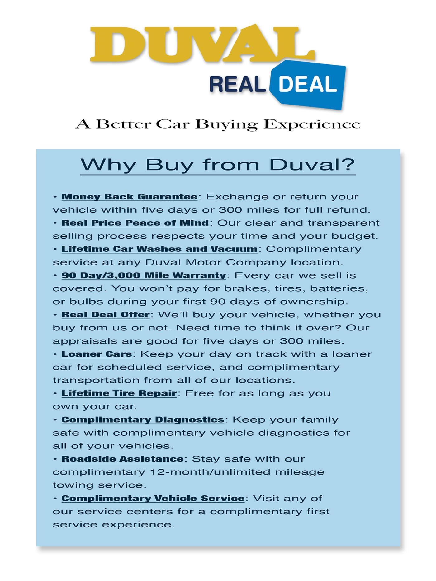 Why Buy from Duval?