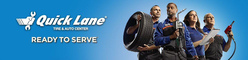 quick lane tire & auto center banner