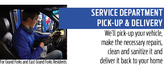 Service Department Pick-Up & Delivery Service