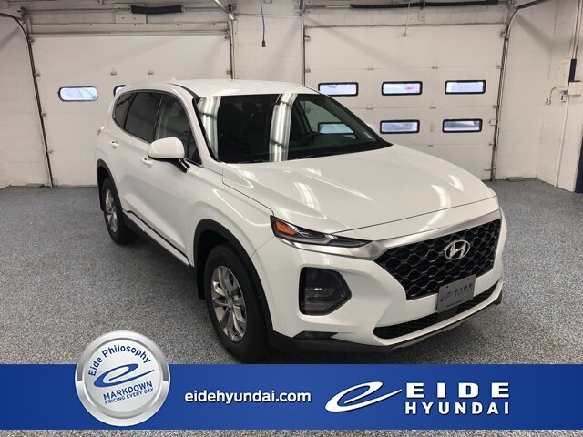 Lease this 2020, White, Hyundai, Santa Fe, SEL 2.4