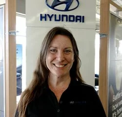 Parts Manager Holley Loken in Parts at Eide Hyundai