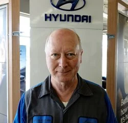 Reconditioning Technician Larry McCoy in Sales at Eide Hyundai