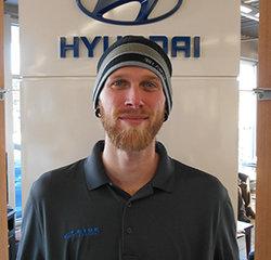Service Technician Ian Lacrosse in Service at Eide Hyundai