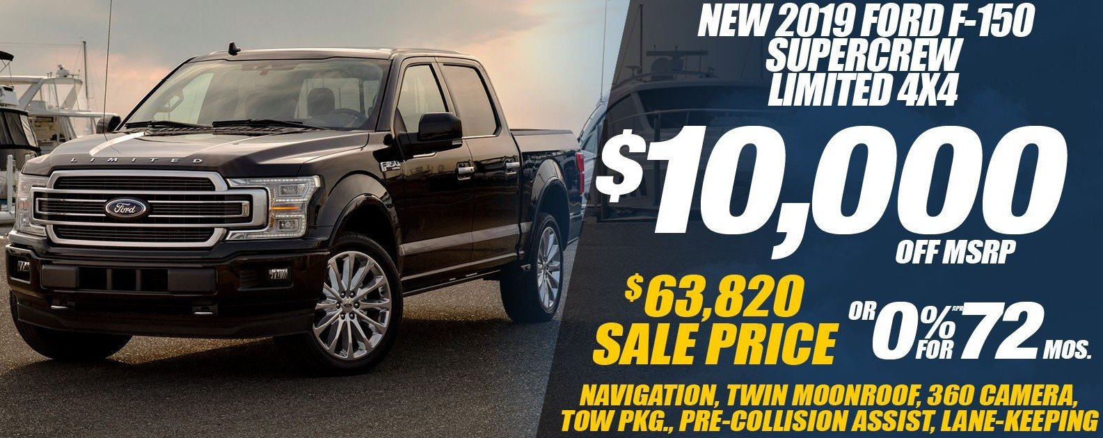 Special offer on 2019 Ford F-150 NEW 2019 FORD F-150 LIMITED 4X4 SPECIAL IN DALLAS