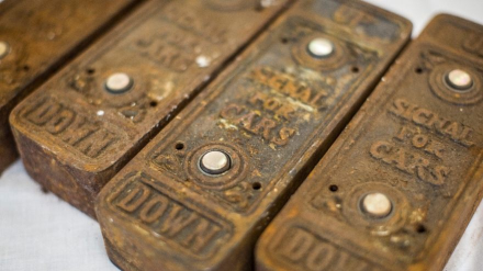 Cast iron elevator buttons