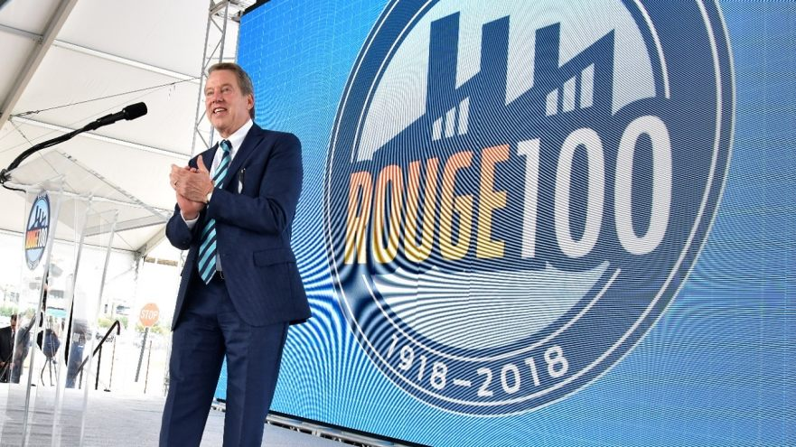 Bill Ford, Executive Chairman, Ford Motor Company, at the 100 year anniversary celebration of the Ford Rouge complex