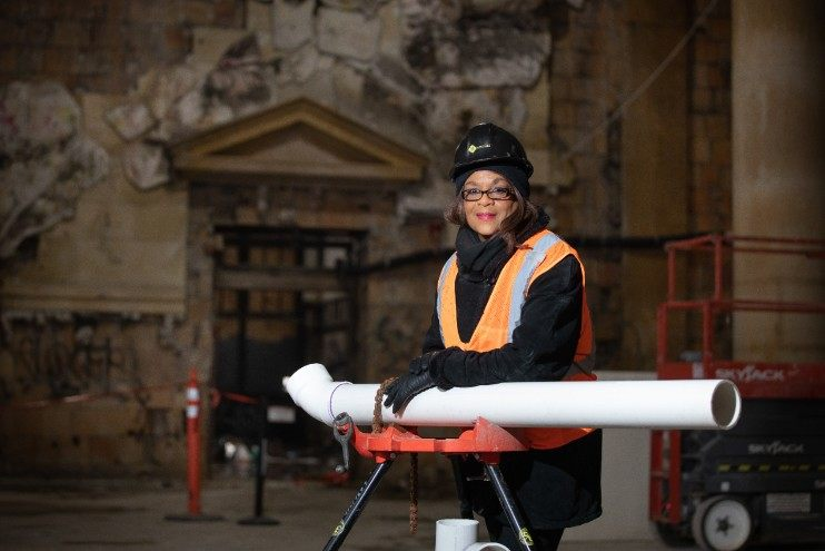 Adrienne Bennett, first female African American licensed master plumber and plumbing contractor in North America