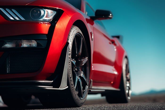 Red 2020 Mustang Shelby GT500