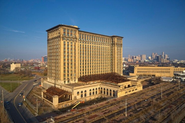 Michigan Central Station Construction