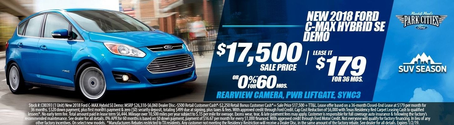 New 2018 Ford C-MAX Hybrid SE Special at Dallas Ford Dealer