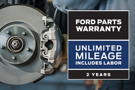 Coupon for Ford Parts Warranty Unlimited Mileage; Includes Labor; 2 Years