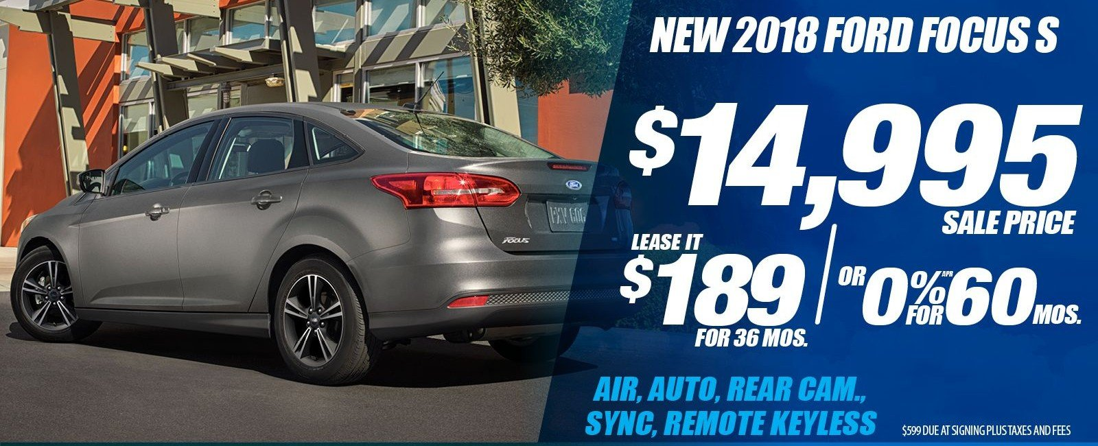 Special offer on 2018 Ford Focus NEW 2018 FORD FOCUS S SPECIAL IN DALLAS, TX!