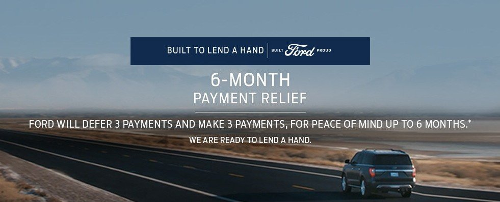Special offer on 2020 Ford F-150 6 MONTH PAYMENT RELIEF OFFER AT DALLAS FORD DEALER