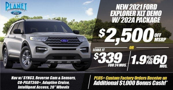 New 2021 Ford Explorer XLT for Sale at Planet Ford Dallas - Your Dallas Ford Dealer!